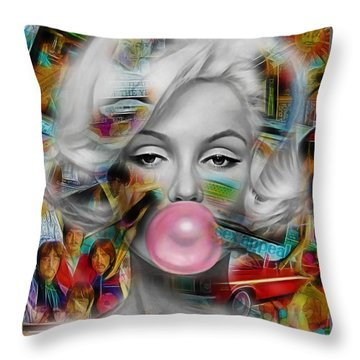 Marilyn Monroe Collection Throw Pillow by Marvin Blaine