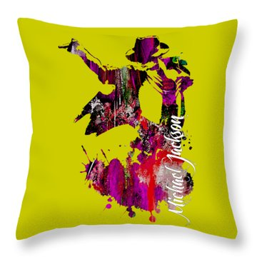 Michael Jackson Collection Throw Pillow by Marvin Blaine
