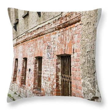 Derelict Building Throw Pillow by Tom Gowanlock