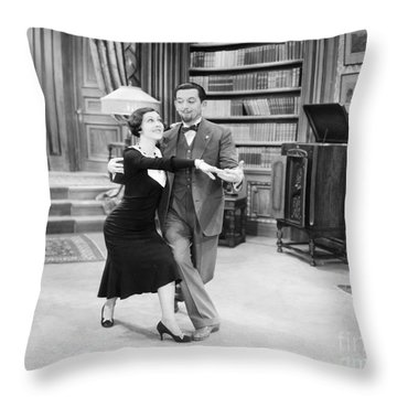 Silent Film Still: Dancing Throw Pillow by Granger