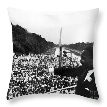 Martin Luther King, Jr Throw Pillow by Granger