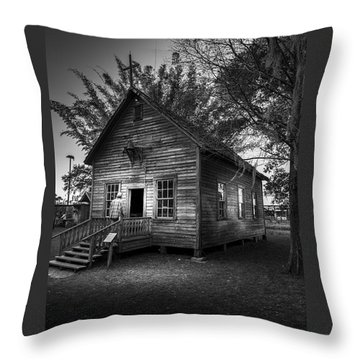 1800's Florida Church Throw Pillow by Marvin Spates