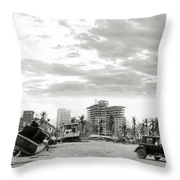 1926 Miami Hurricane  Throw Pillow by Jon Neidert