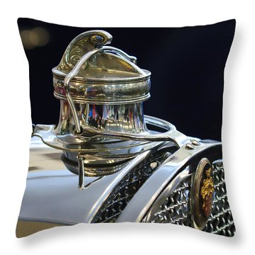 1929 Packard 8 Hood Ornament 3 Throw Pillow by Jill Reger
