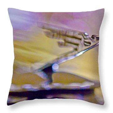 1931 Duesenberg Model J Hood Ornament Throw Pillow by Jill Reger