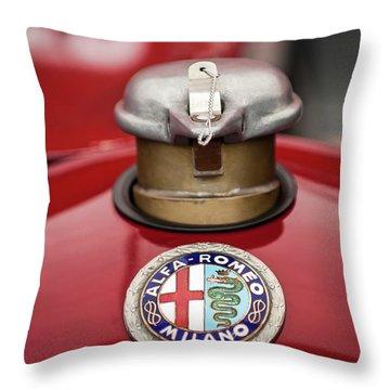 1934 Alfa Romeo Tipo B Hood Emblem Throw Pillow by Jill Reger