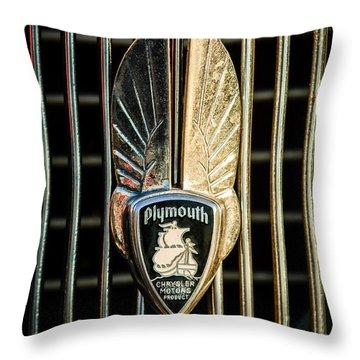 1934 Plymouth Emblem Throw Pillow by Jill Reger