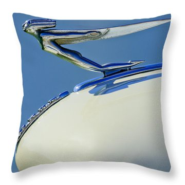 1935 Auburn Hood Ornament Throw Pillow by Jill Reger