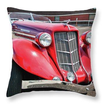 1935 Auburn Speedster 6870 Throw Pillow by Guy Whiteley