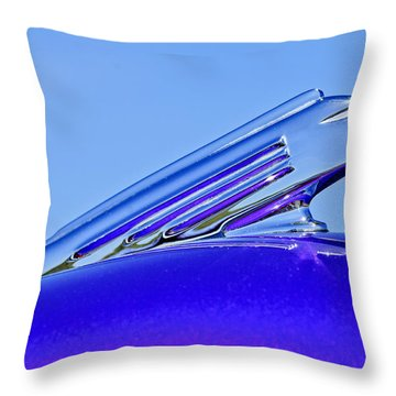 1939 Pontiac Coupe Hood Ornament 2 Throw Pillow by Jill Reger