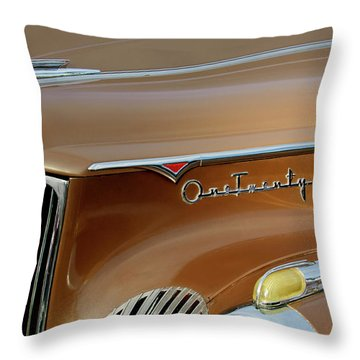 1941 Packard Hood Ornament 2  Throw Pillow by Jill Reger