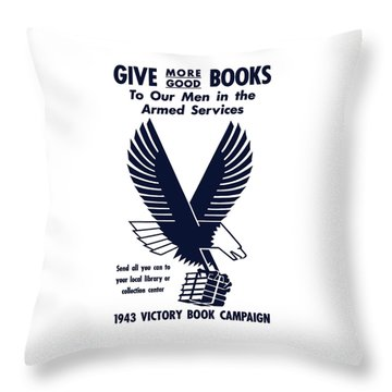 1943 Victory Book Campaign Throw Pillow by War Is Hell Store