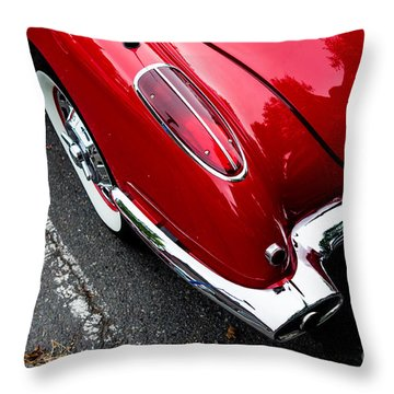 Throw Pillow featuring the photograph 1959 Corvette by M G Whittingham