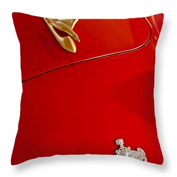 1951 Crosley Hot Shot Hood Ornament Throw Pillow by Jill Reger