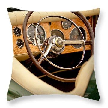 1952 Sterling Gladwin Maverick Sportster Steering Wheel Throw Pillow by Jill Reger