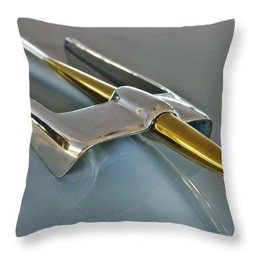1953 Lincoln Hood Ornament Throw Pillow by Jill Reger