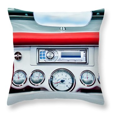 1954 Chevrolet Corvette Dashboard Throw Pillow by Jill Reger