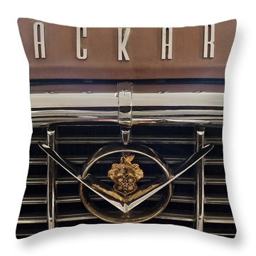 1955 Packard 400 Hood Ornament 2 Throw Pillow by Jill Reger