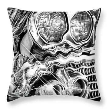 1958 Impala Beauty Within The Beast Throw Pillow by Peter Piatt