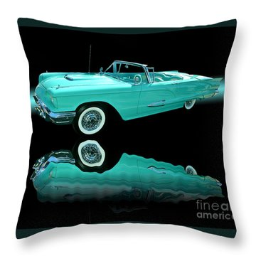 1959 Ford Thunderbird Throw Pillow by Jim Carrell