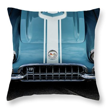 Throw Pillow featuring the photograph 1960 Corvette by M G Whittingham