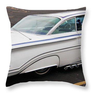 1960 Olds Eighty Eight 2023 Throw Pillow by Guy Whiteley
