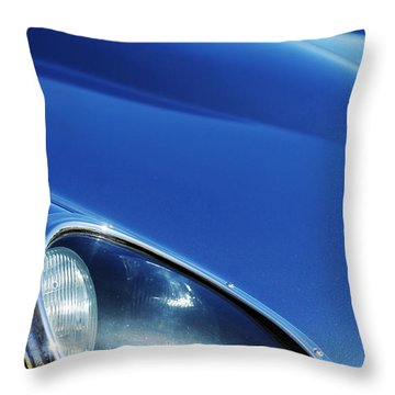 1963 Jaguar Xke Roadster Headlight Throw Pillow by Jill Reger