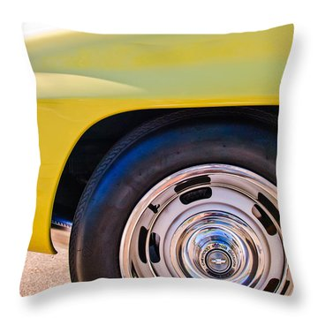 1967 Chevrolet Corvette Sport Coupe Rear Wheel Throw Pillow by Jill Reger