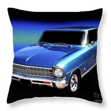 1967 Nova Ss Throw Pillow by Peter Piatt