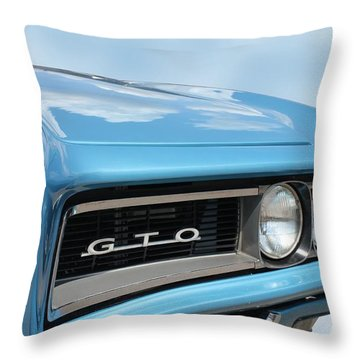 1968 Pontiac Gto Throw Pillow by Betty Northcutt