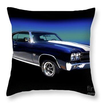 1970 Chevelle Ss Throw Pillow by Peter Piatt