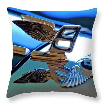 1980 Bentley Hood Ornament Throw Pillow by Jill Reger