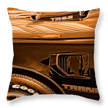 1980 Pontiac Trans Am Throw Pillow by Gordon Dean II