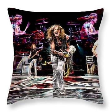 Aerosmith Collection Throw Pillow by Marvin Blaine