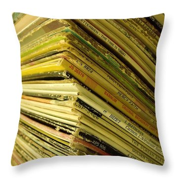 Albums II Throw Pillow by Anna Villarreal Garbis
