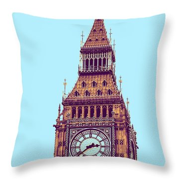 Big Ben Tower, London  Throw Pillow by Asar Studios