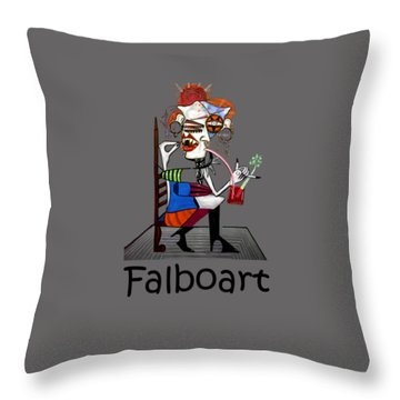 Bloody Mary Let The Dead Bury The Dead Throw Pillow by Anthony Falbo