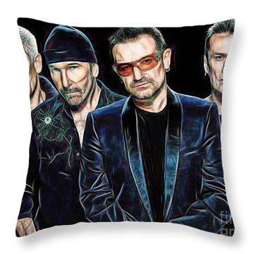 Bono U2 Collection Throw Pillow by Marvin Blaine