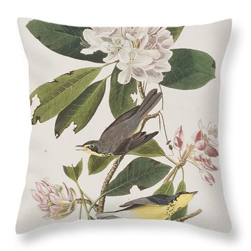 Canada Warbler Throw Pillow by John James Audubon