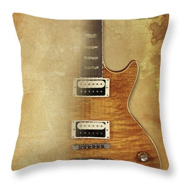 Darius Rucker Inspirational Quote, Electric Guitar Poster For Music Lovers And Musicians Throw Pillow by Pablo Franchi