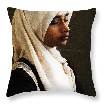 Deep In Thought Throw Pillow by Avalon Fine Art Photography