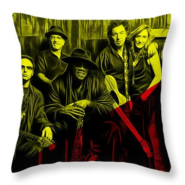 E Street Band Collection Throw Pillow by Marvin Blaine