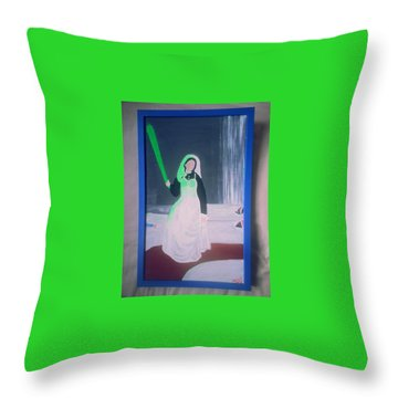 Florescent Lighting Gale Throw Pillow by MERLIN Vernon