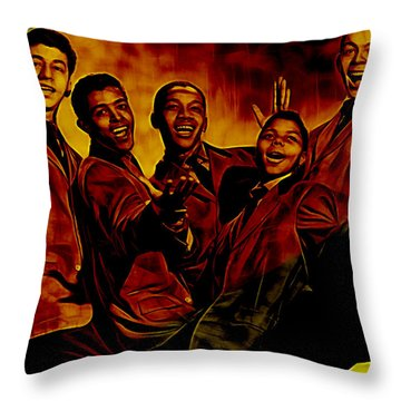 Frankie Lymon Collection Throw Pillow by Marvin Blaine