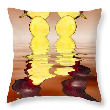 Fresh Ripe Mango Fruits Throw Pillow by David French