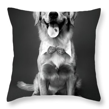 Golden Retriever Throw Pillow by Oleksiy Maksymenko