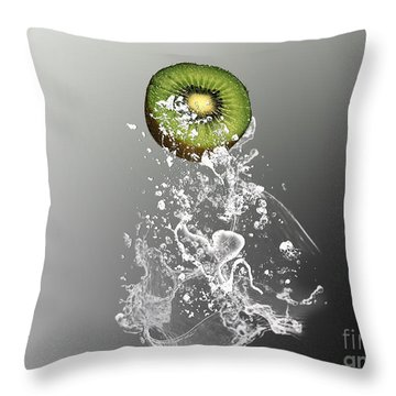 Kiwi Splash Throw Pillow by Marvin Blaine