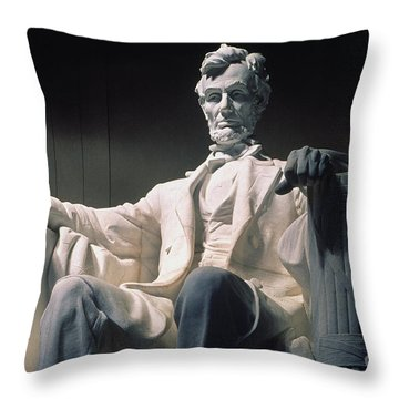 Lincoln Memorial: Statue Throw Pillow by Granger