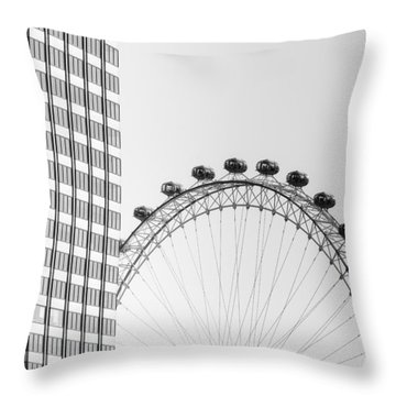 London Eye Throw Pillow by Joana Kruse