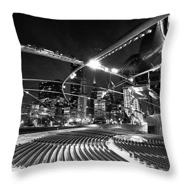 Millennium Park Throw Pillow by Sebastian Musial
